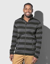 Active Striped Fleece Jacket for men
